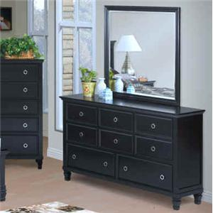 New Classic Tamarack Dresser and Mirror Set