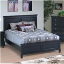 New Classic Tamarack Queen Panel Headboard and Footboard Bed - Bed Shown May Not Represent Size Indicated
