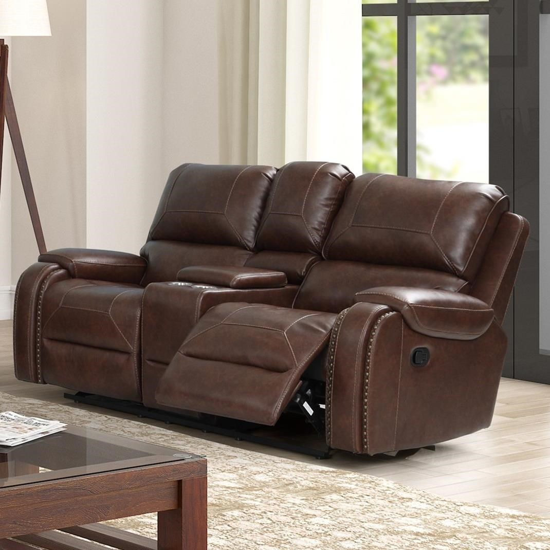 Taos Glider Reclining Loveseat by New Classic at Beck's Furniture