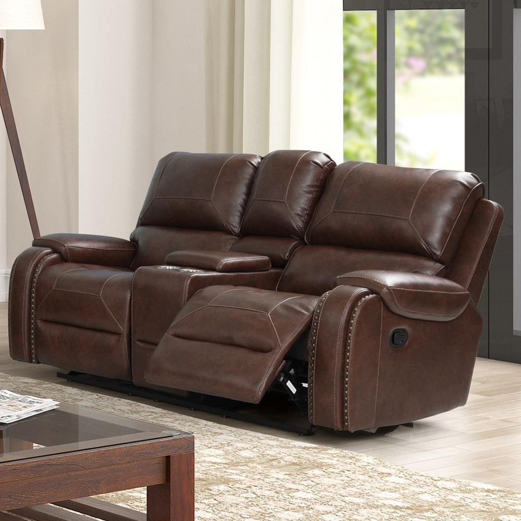 Taos Power Reclining Loveseat by New Classic at Beck's Furniture