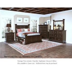 New Classic Timber City 4pc King Bedroom