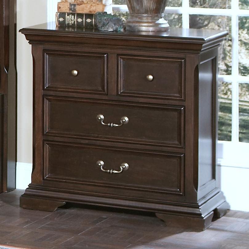 New Classic Timber City 4 Drawer Night Stand - Item Number: 00-007-040