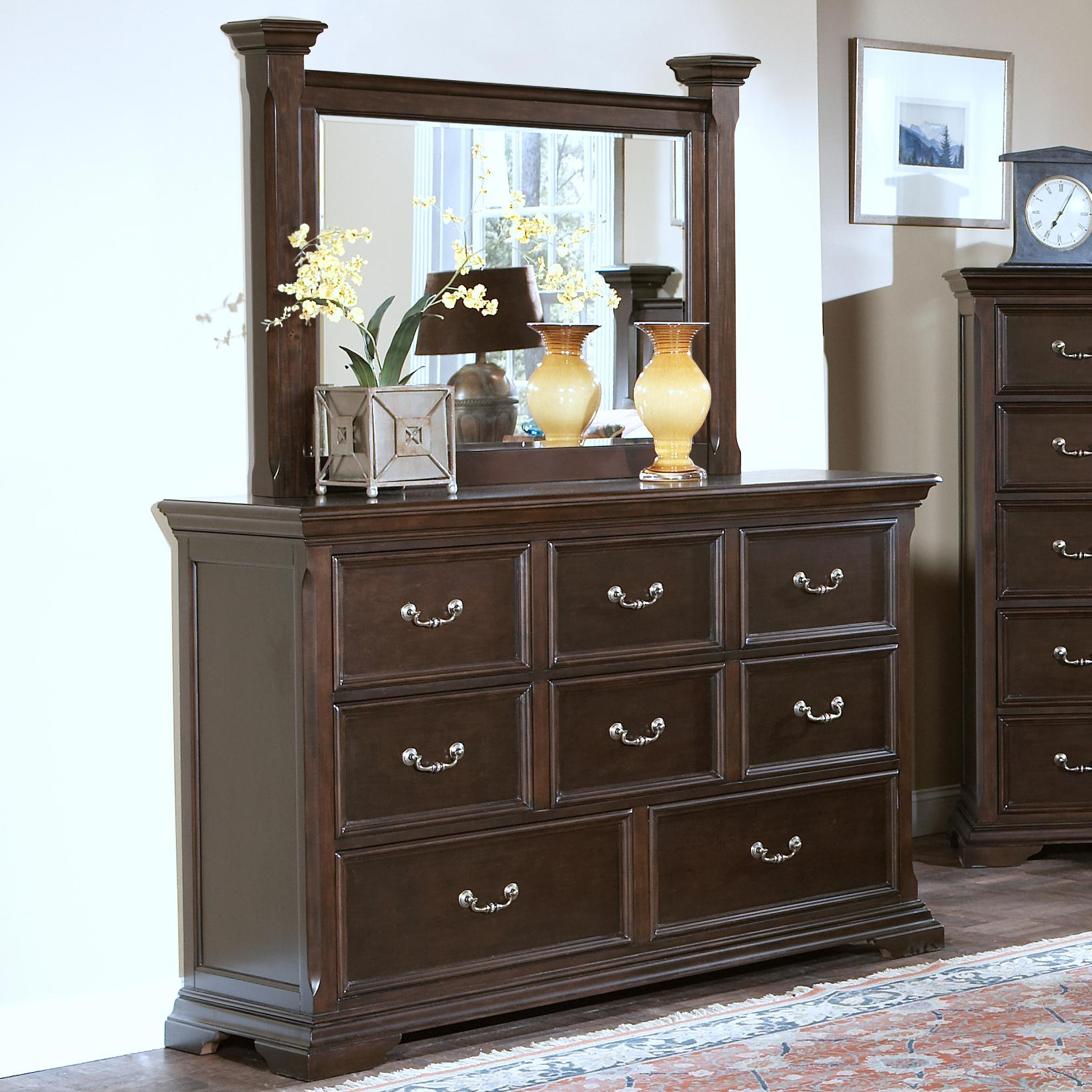 New Classic Timber City Dresser and Mirror Set - Item Number: 00-007-050+060