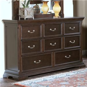 New Classic Timber City 8 Drawer Dresser
