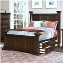 New Classic Timber City California King Captain's Bed - Item Number: 00-007-210+220+237+238