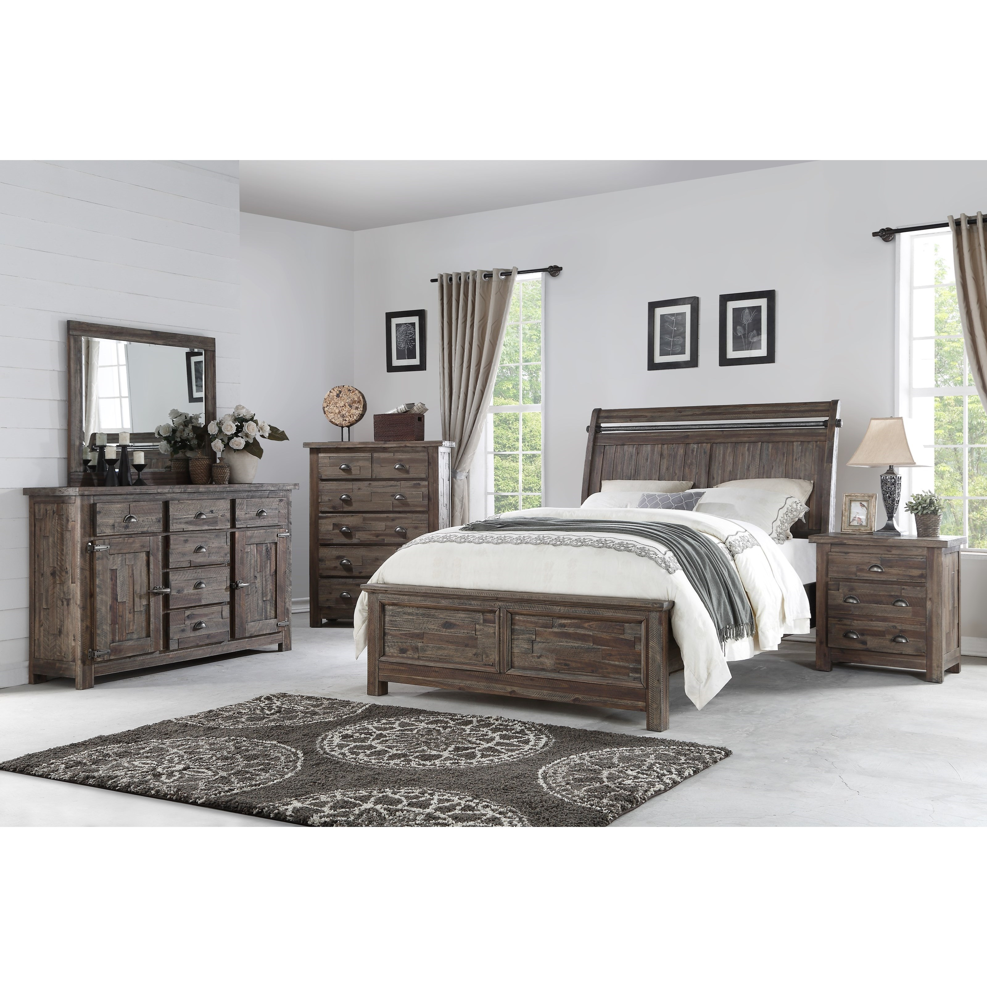 Davis International Bedroom Furniture New Classic Tuscany Park 00 7404 100 King Sleigh Bed With