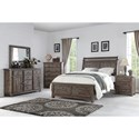 New Classic Tuscany Park Six Drawer Dresser with Panel Doors