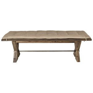 Dining Bench with Button Tufted Cushion
