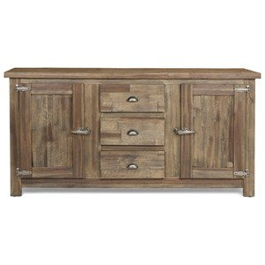 Sideboard with Freezer Style Door Latches