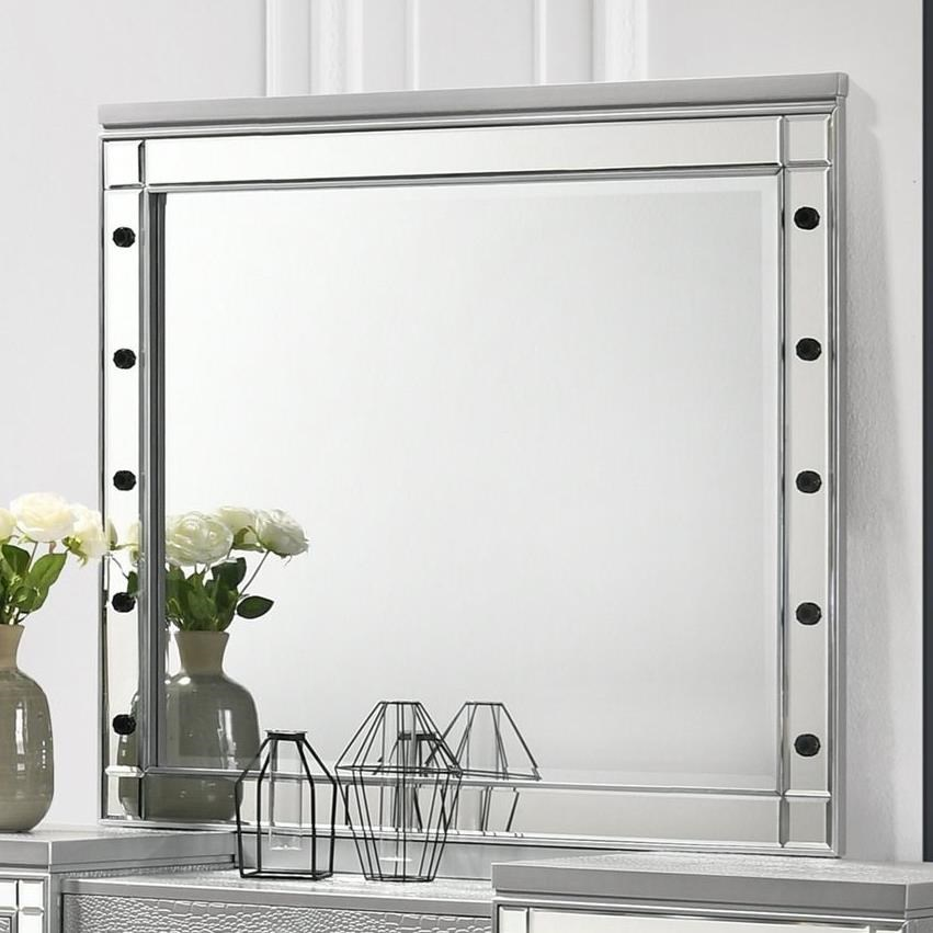 Valentino Vanity Table Mirror by New Classic at Beck's Furniture