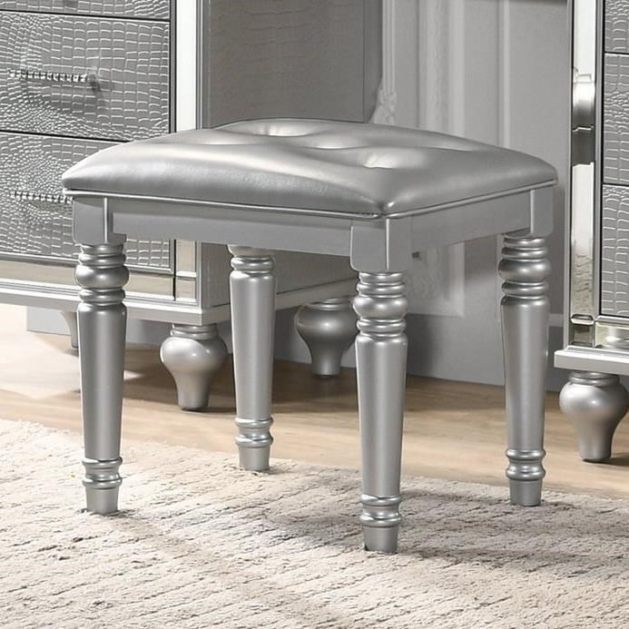 Valentino Vanity Table Stool by New Classic at Beck's Furniture