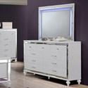 New Classic Valentino Dresser and Mirror Set - Item Number: BA9698W-050+060