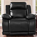 New Classic Vega Glider Recliner - Item Number: U3822-13-PBK