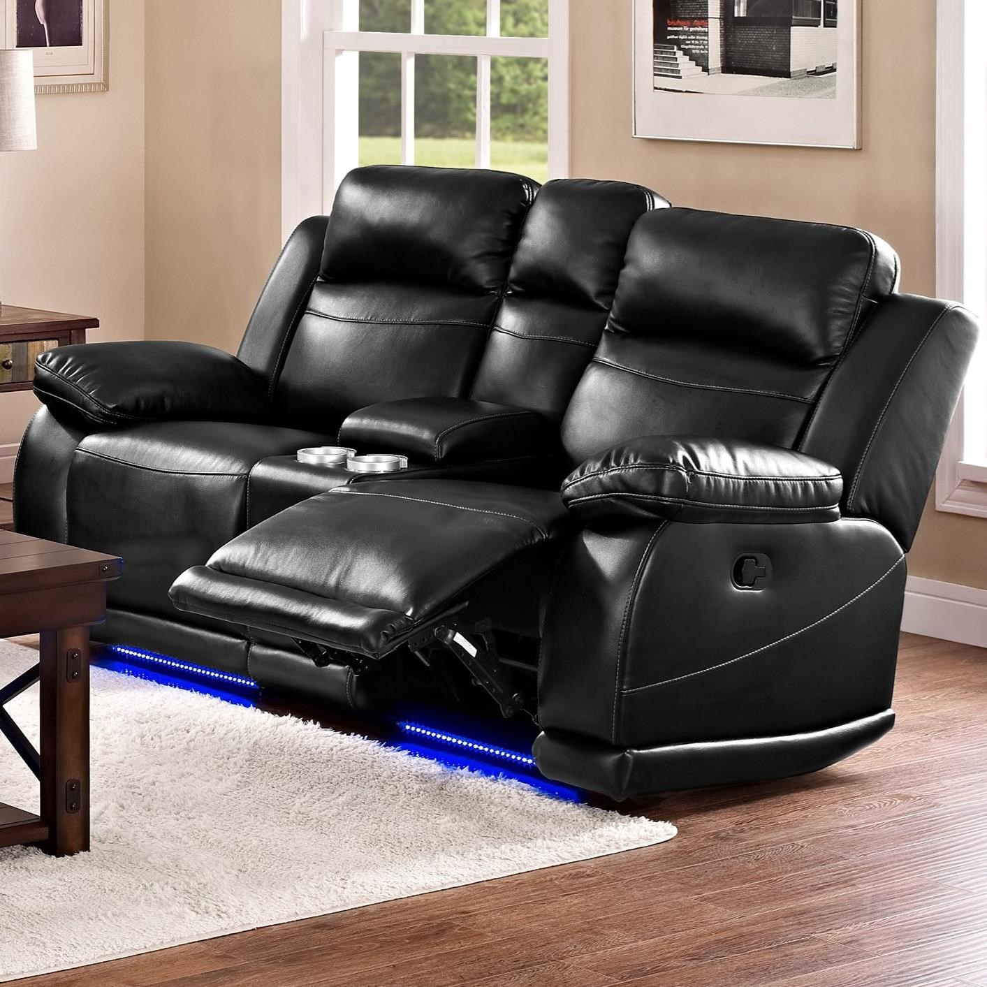 New Classic Vega Casual Reclining Loveseat With Console