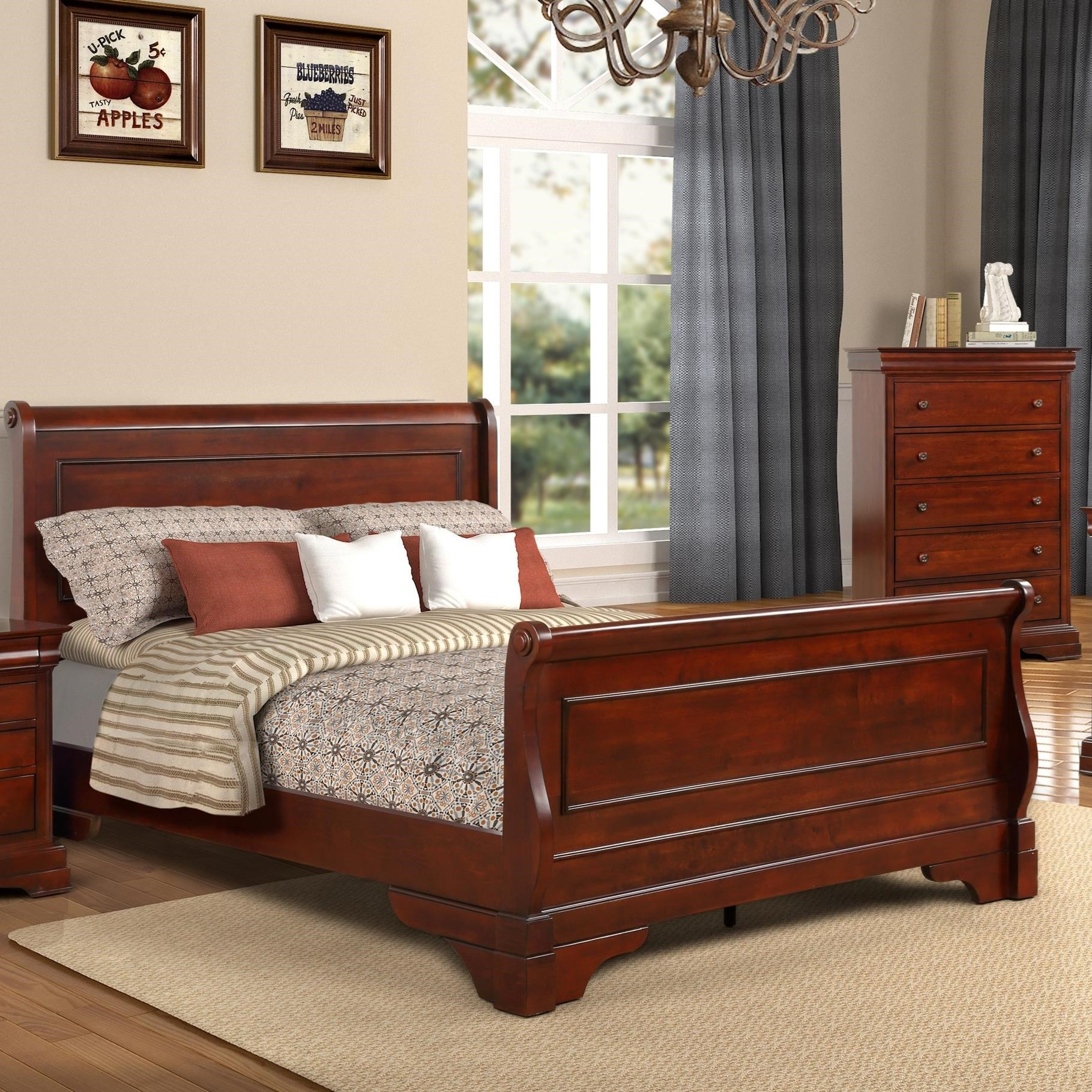 - New Classic Versaille Traditional King Sleigh Bed Darvin