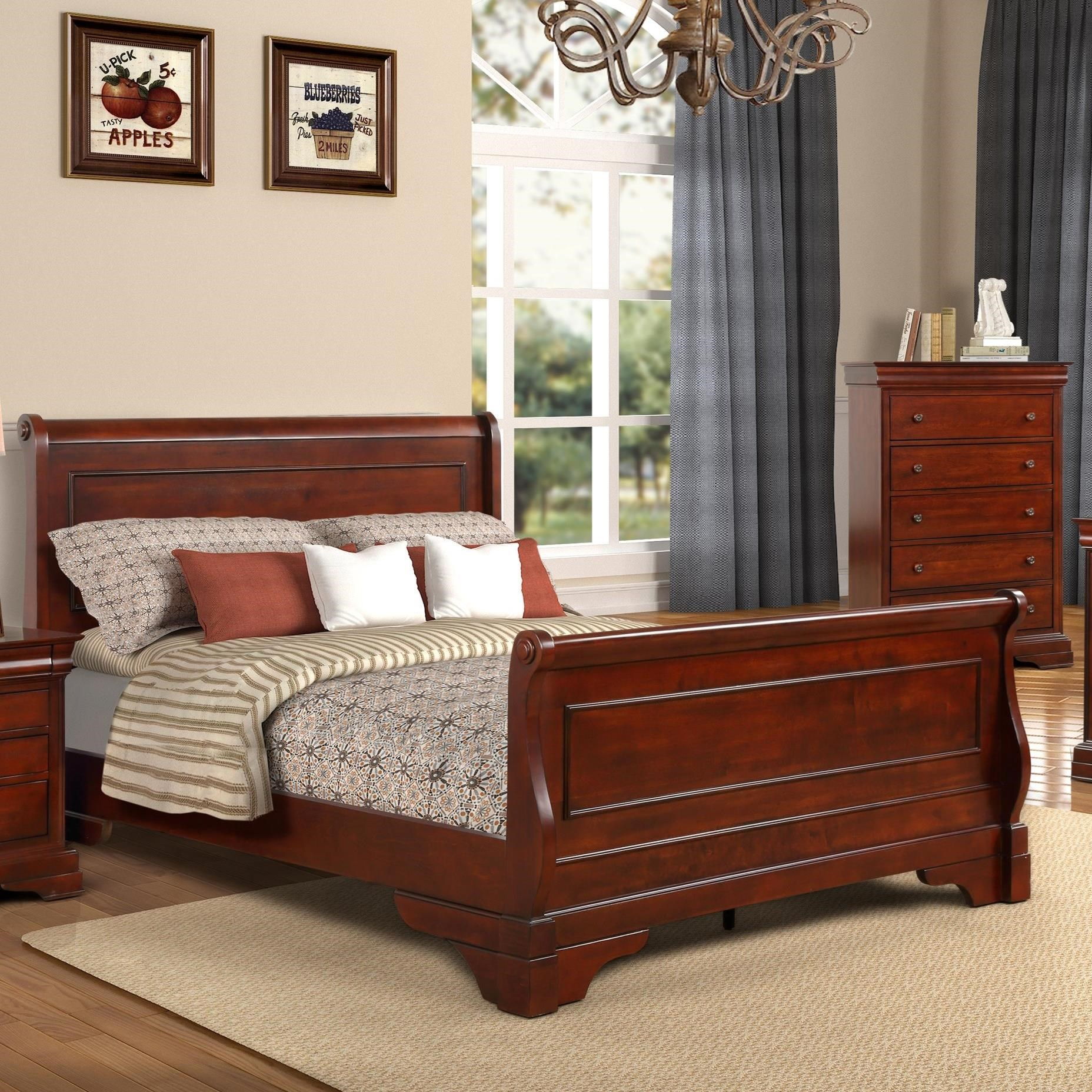 - New Classic Versaille Traditional Twin Sleigh Bed Darvin