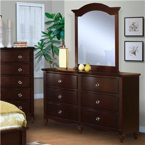 New Classic Victoria Dresser and Mirror Set