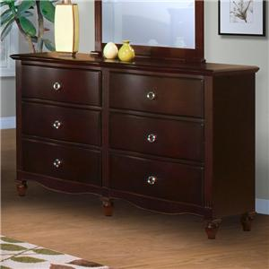 New Classic Victoria 6-Drawer Dresser