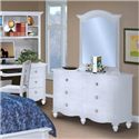 New Classic Victoria Dresser and Mirror Combination - Item Number: 05-621-052+05-621-062