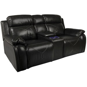 New Classic Vigo Power Reclining Loveseat with Console