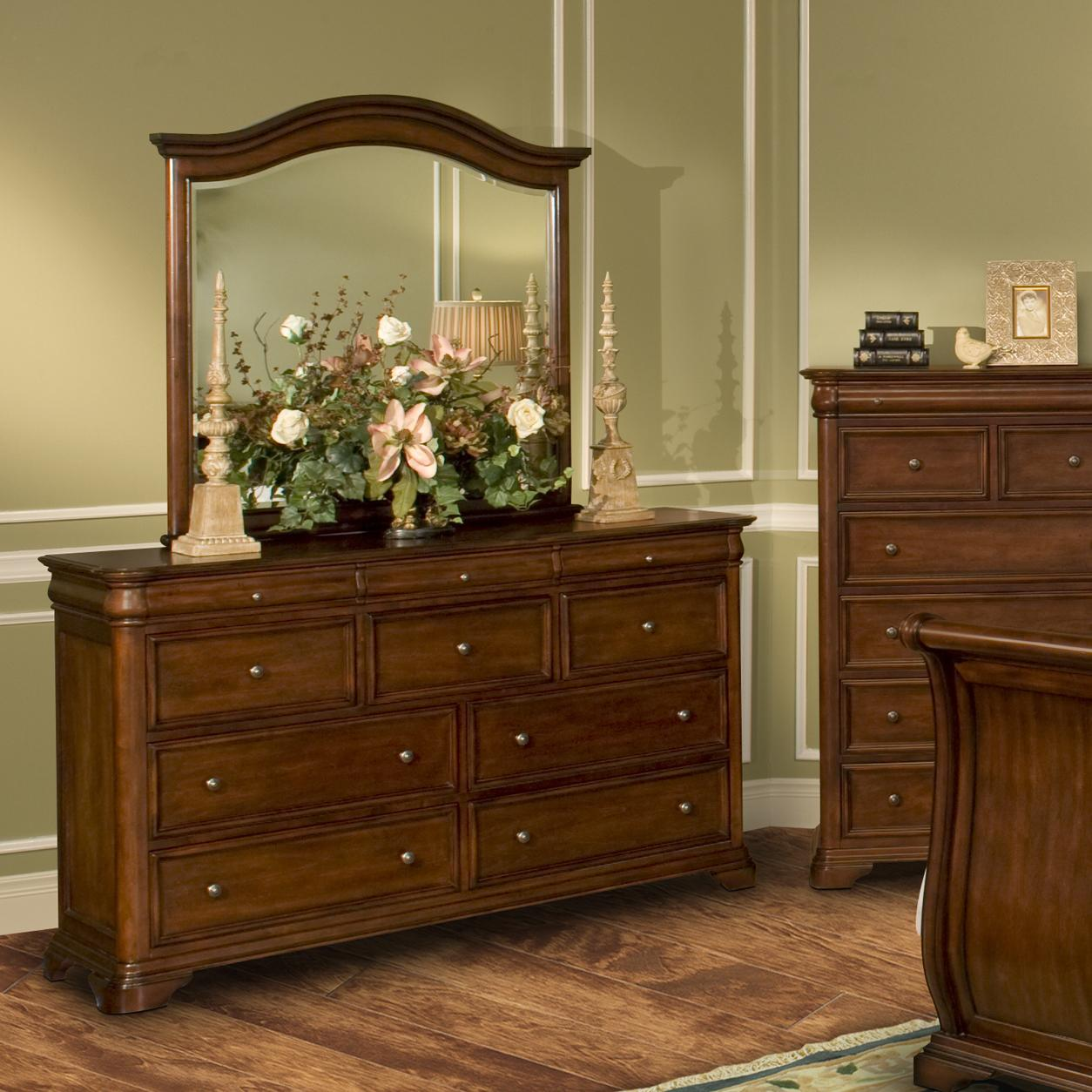 New Classic Whitley Court Dresser & Mirror Combo - Item Number: 00-002-050+060