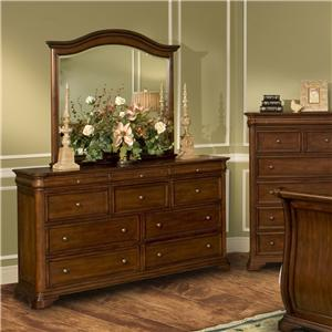 New Classic Whitley Court Dresser & Mirror Combo
