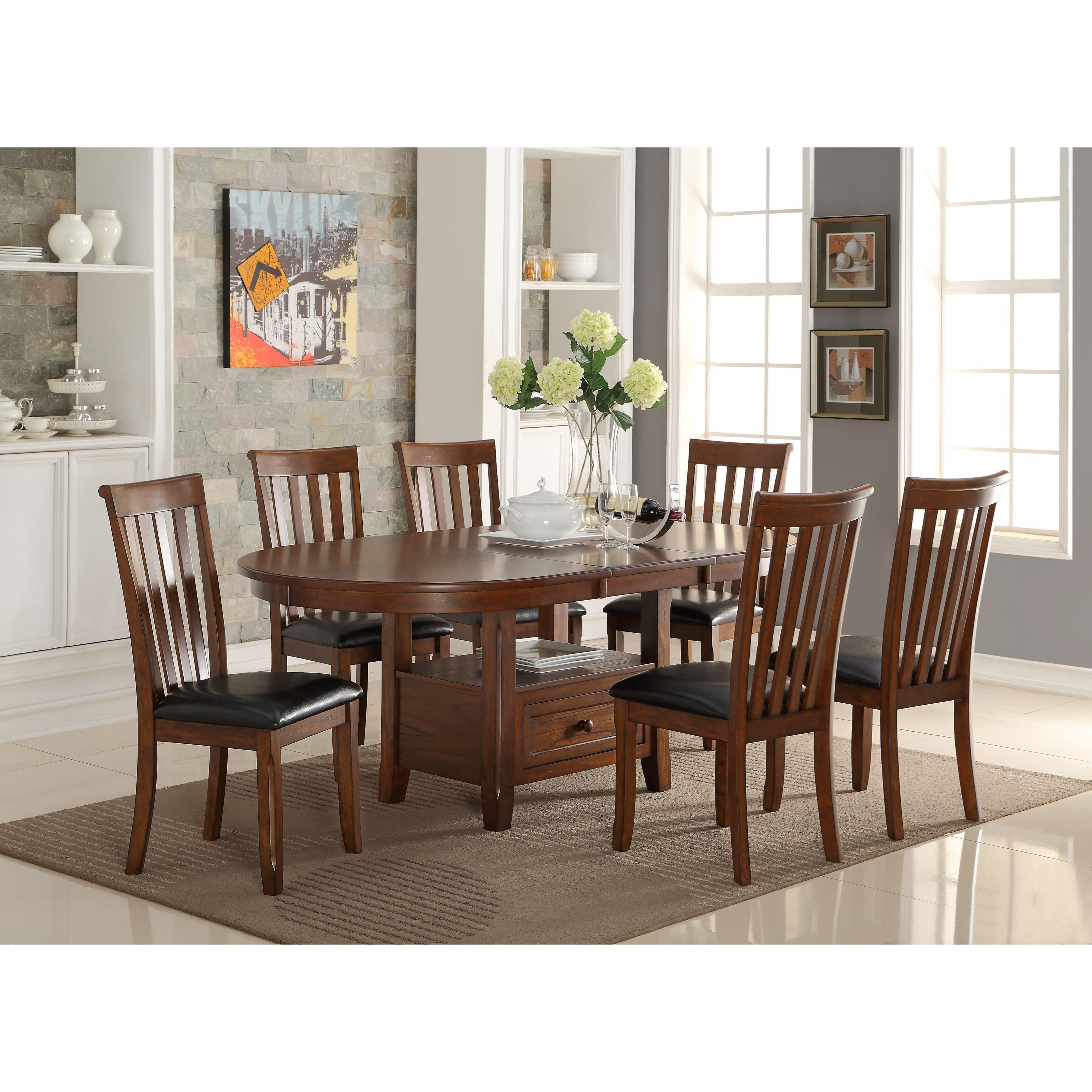 Wilson 7 Piece Storage Dining Table Set By New Classic