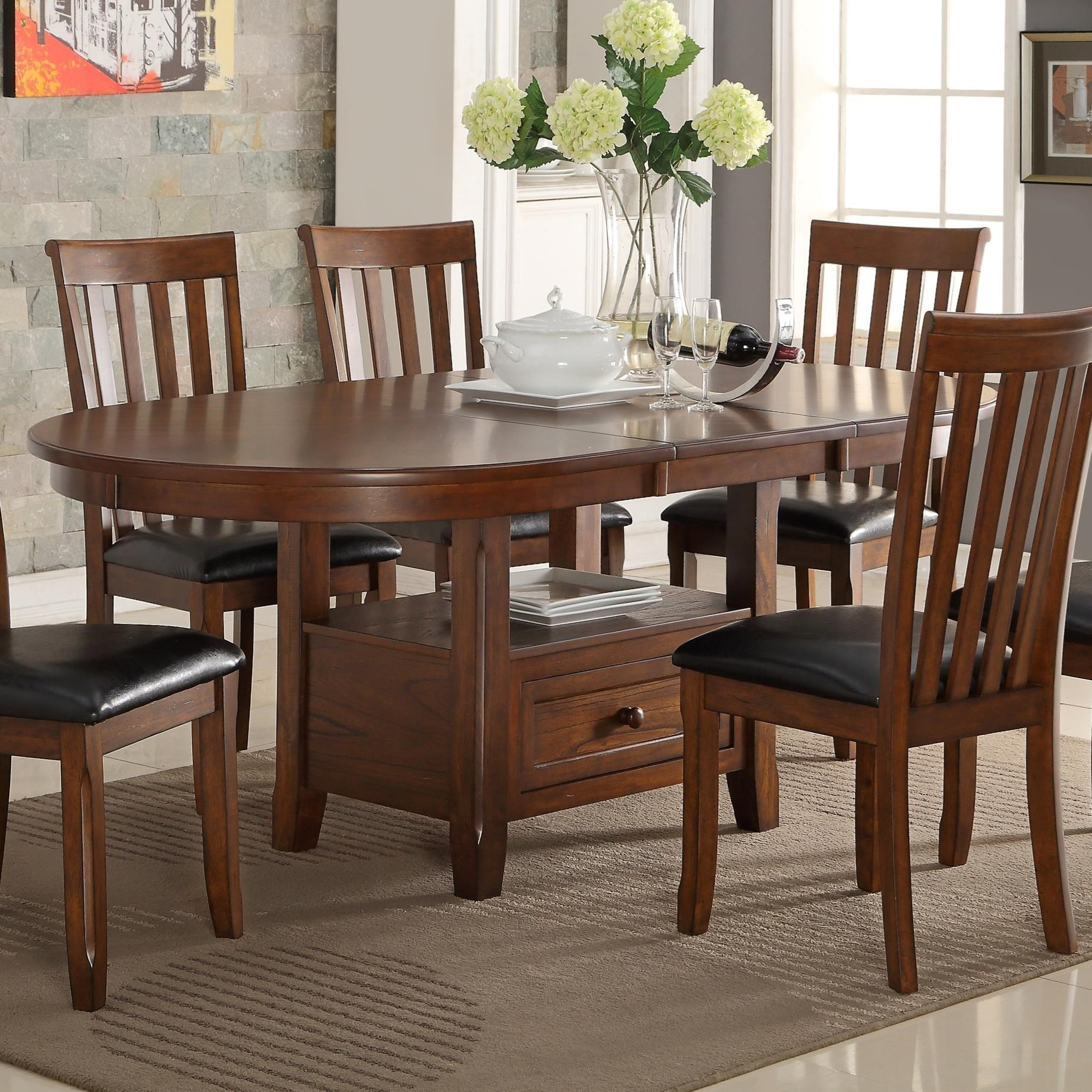 New Classic Wilson D0226 10 Round Dining Table With