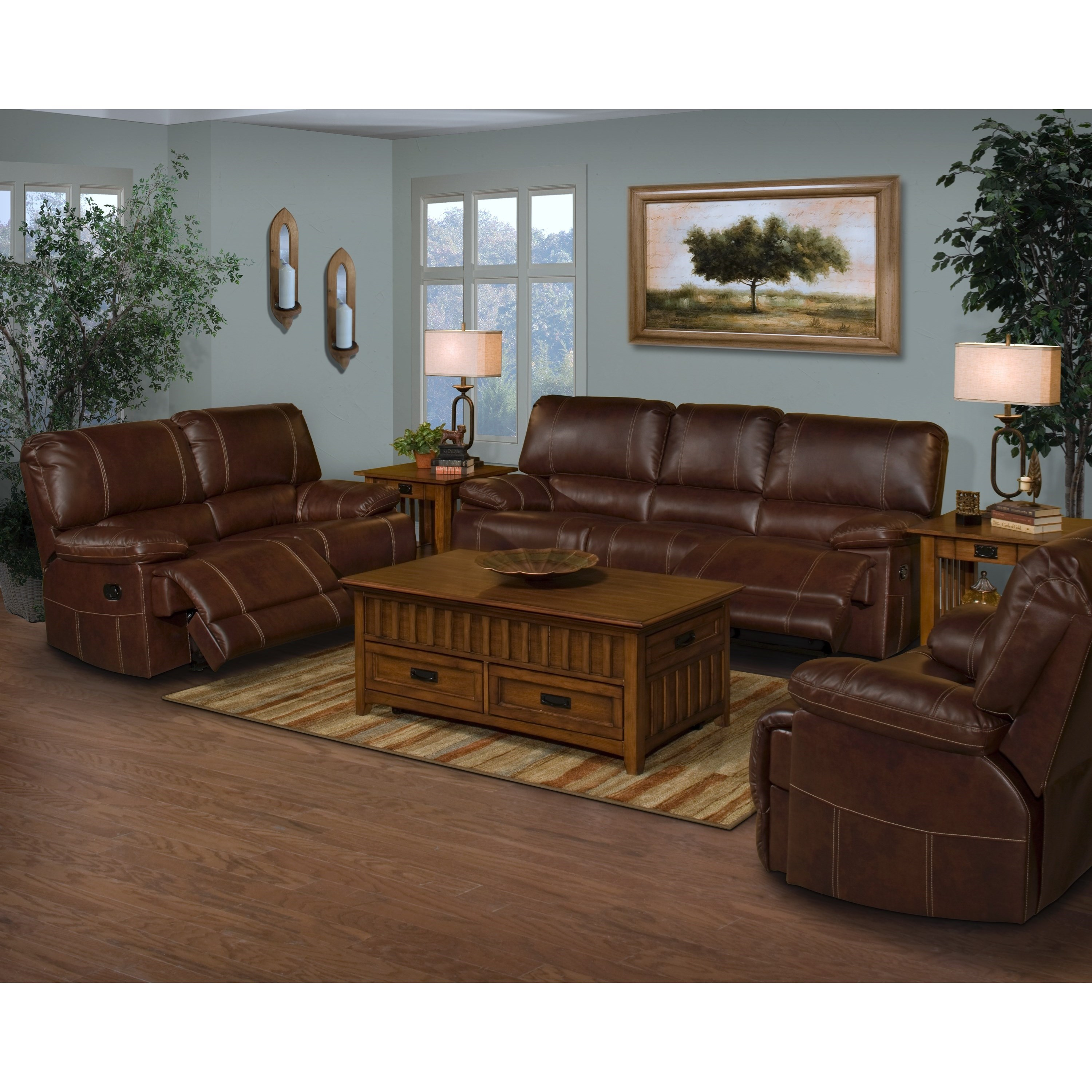 New Classic Wyoming 22-303-32 Casual Power Dual Recliner