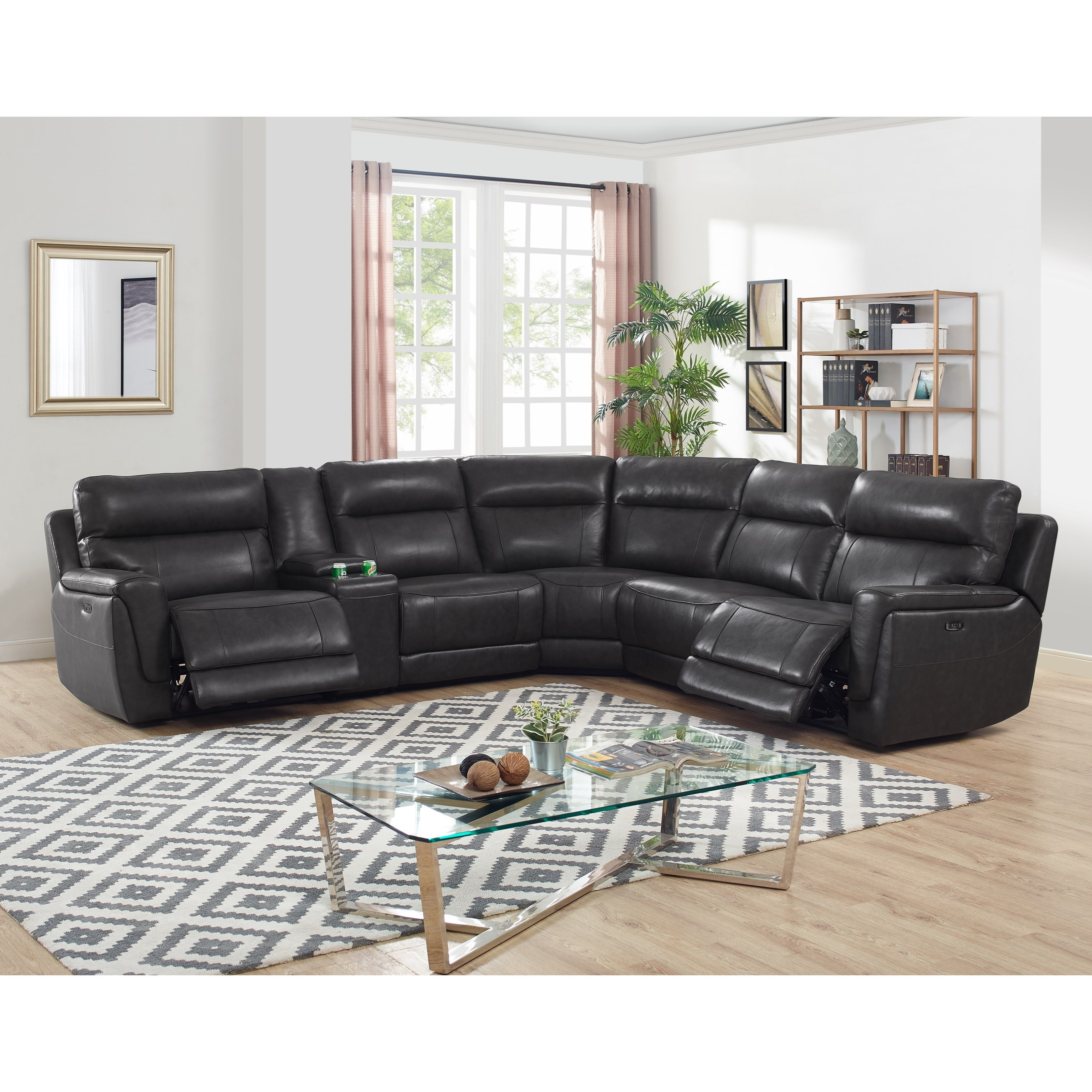 New Classic Zane 4 Seat Power Reclining Sectional Sofa