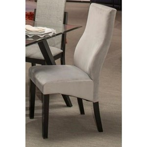 Contemporary Dining Side Chair with Upholstered Back and Seat