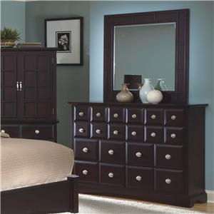 New Classic Arbor Dresser & Landscape Mirror Set