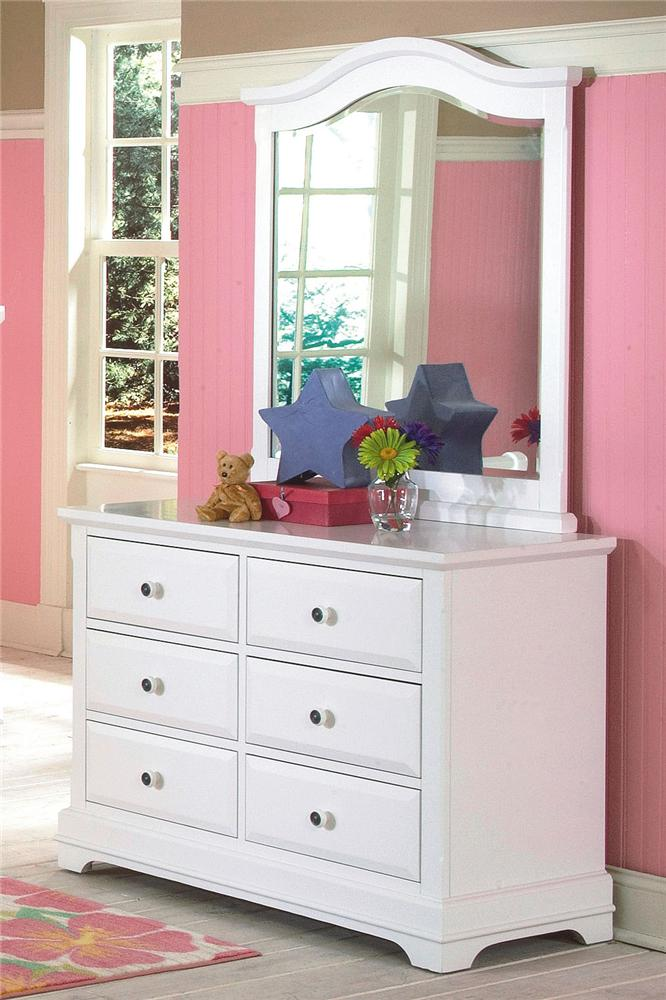 New Classic Bayfront Dresser and Mirror - Item Number: 1415-052+1415-063
