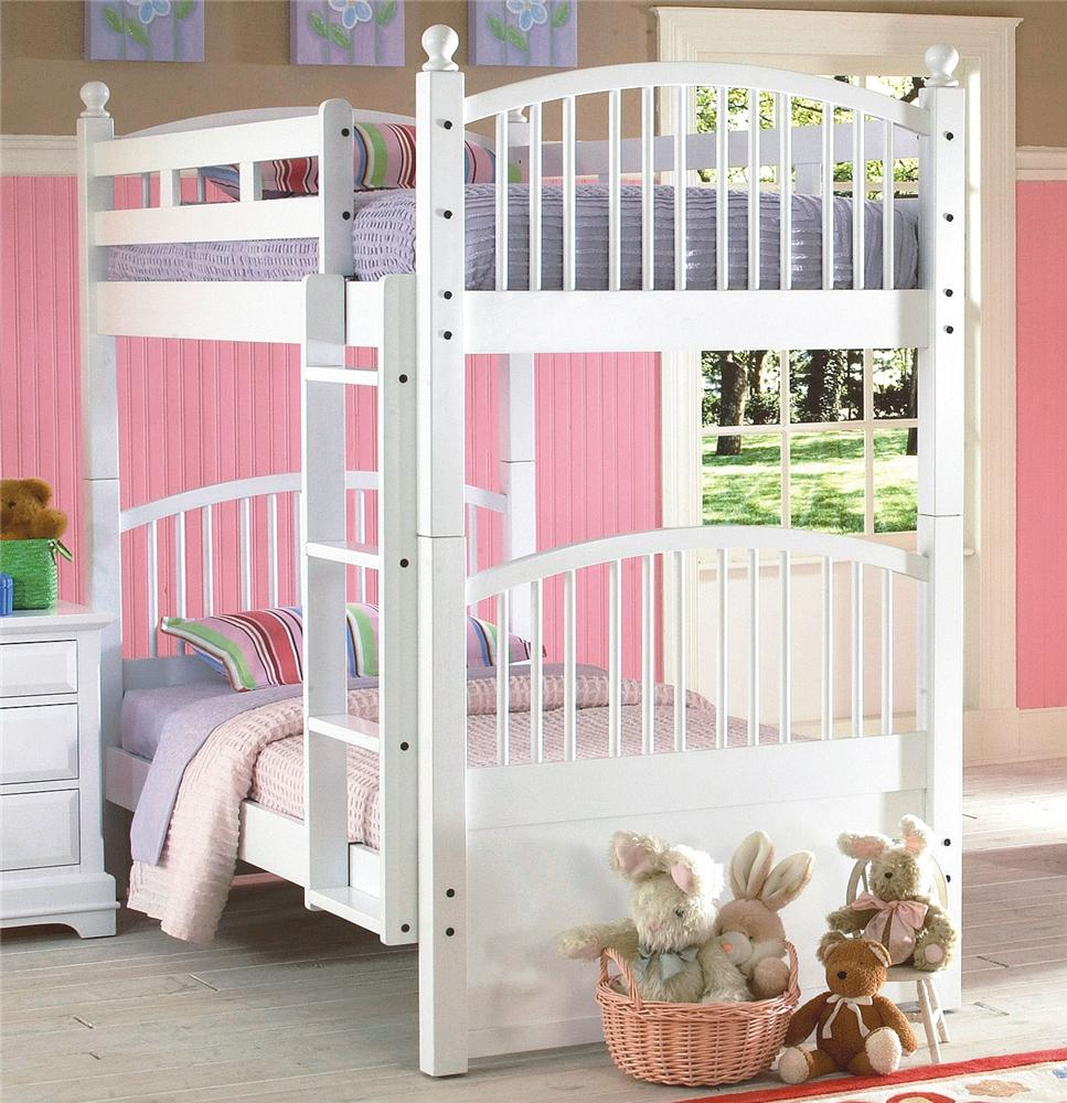 New Classic Bayfront Twin Spindle Bunk Bed - Item Number: 1415-519+1415-539