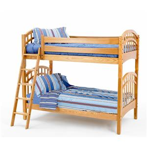 Twin/Twin Oak Bunk Bed
