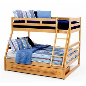 Twin/Full Oak Bunk Bed