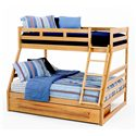 New Classic Casual Oak Youth Twin/Full Oak Bunk Bed - Item Number: BK0095+R+DW