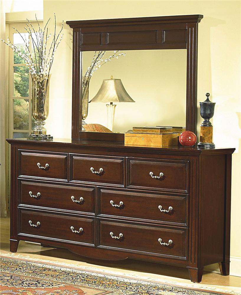 New Classic Drayton Hall Dresser and Mirror - Item Number: 6740-050+6740-060