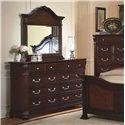 New Classic Emilie Mirror w/ Decorative Pediment - Shown with Dresser