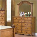 New Classic Hailey Dresser & Mirror Combo - Item Number: 4431-050+060