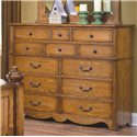 New Classic Hailey 12-Drawer Dresser & Mirror Combo