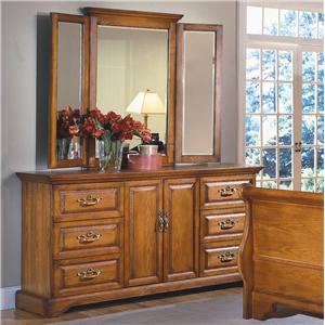 New Classic Honey Creek Dresser & Wing Mirror Set