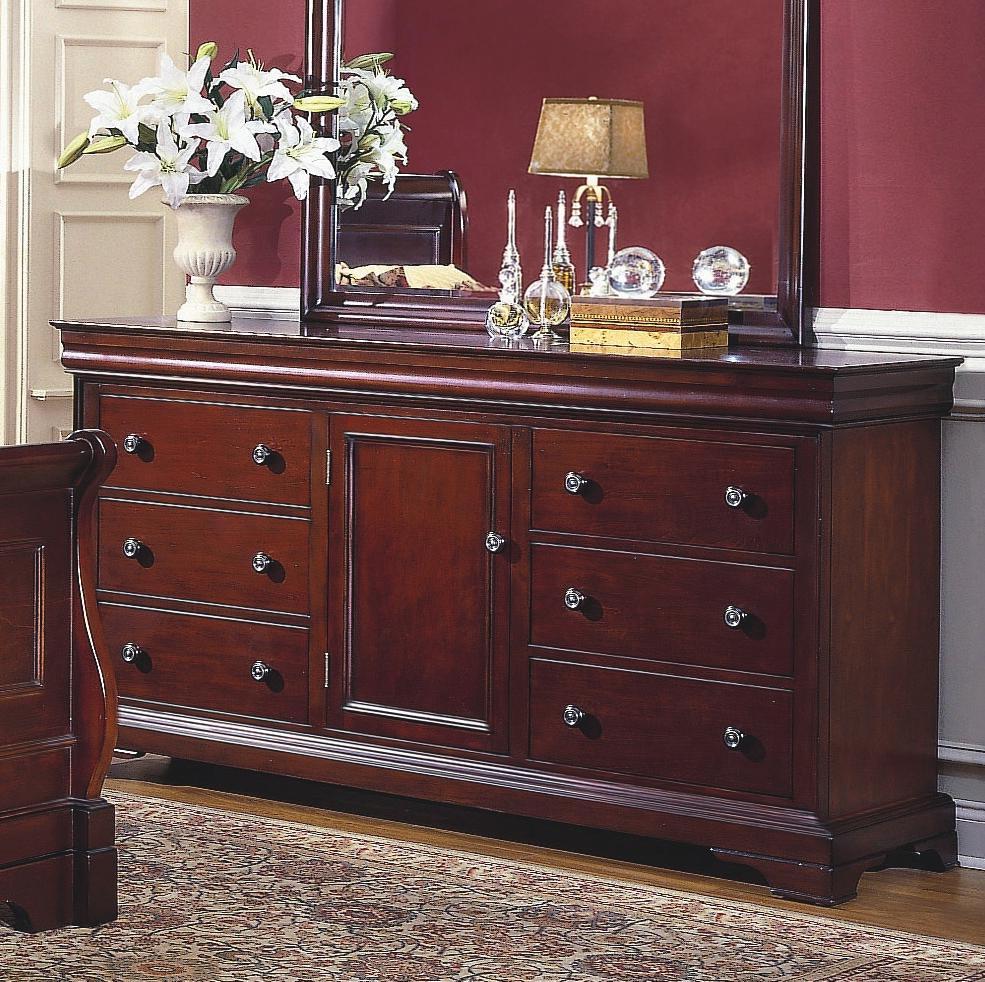 6 Drawer 1 Door Dresser Versaille By New Classic Wilcox Furniture Dressers Corpus Christi