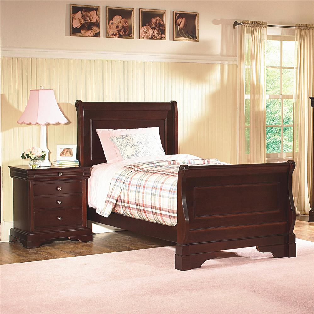 New Classic Versaille Twin Sleigh Bed Miskelly Furniture
