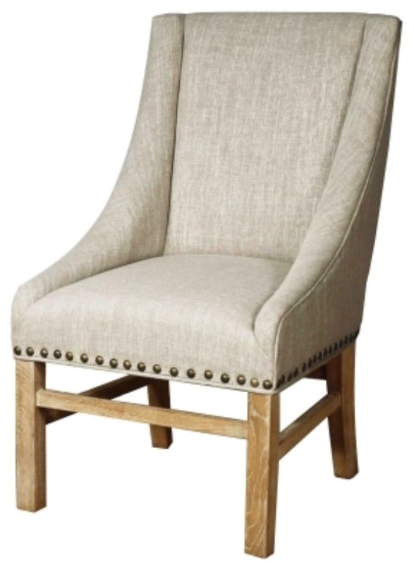 Aaron Sloping Arm Chair, Rice