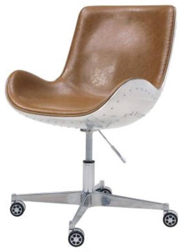 Abner Office Chair, Distresed Caramel