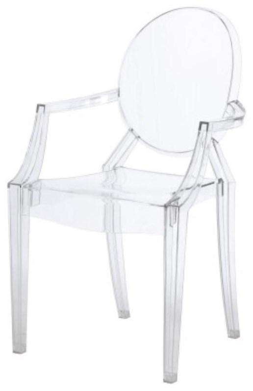 Allegra Arm Chair, Transparent Crystal