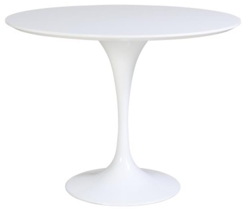 Allie Round Table, White