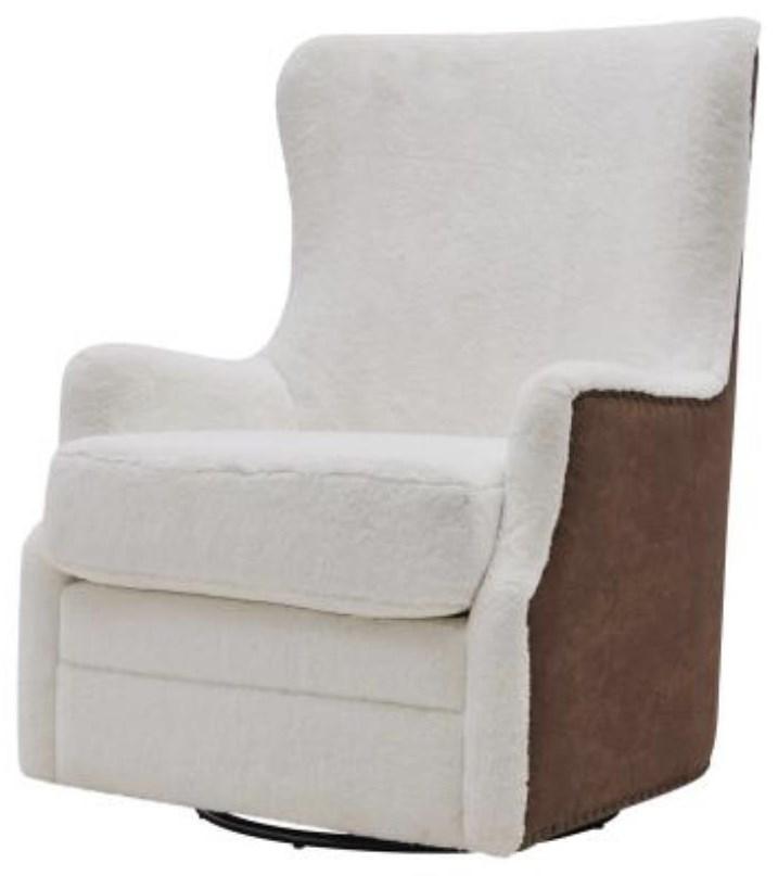 Anthony Faux Fur Swivel Rocker Chair