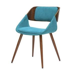Cyprus Chair, Santorini Teal/Walnut